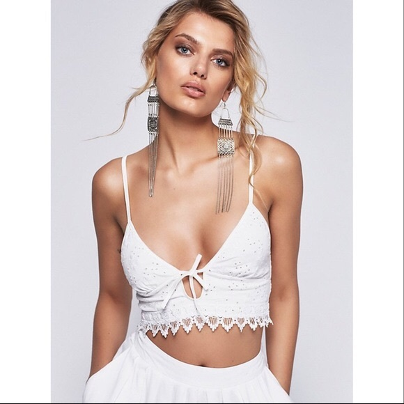 6cf48bf943 Free People Other - Free people X Sonnet Eyelet Bralette Crop Top S